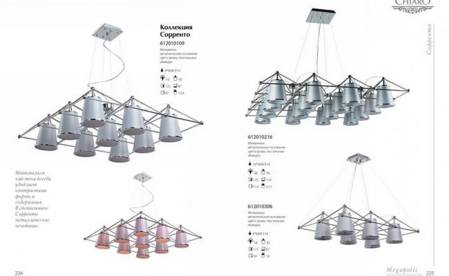 Светильники Chiaro Megapolis